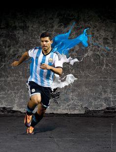 2014 FIFA World Cup Brazil Campaign-Players on Behance Soccer Art, Football Soccer, Soccer World, World Of Sports, World Cup 2014, Fifa World Cup, Lionel Messi, Manchester City, Sergio Aguero
