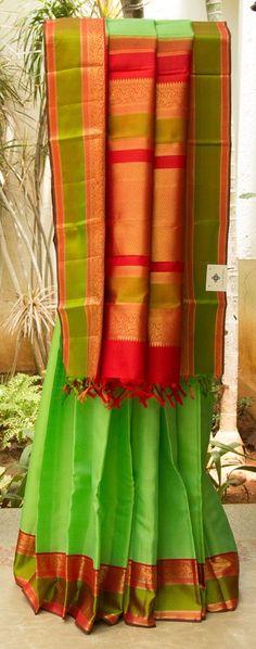 Kanchivaram Kora Silk L03020   Lakshmi