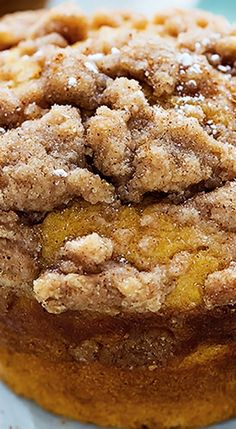 Pumpkin Cream Cheese Streusel Muffins.