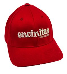 Encinitas Surfboards — Youth Red Flexfit Hat