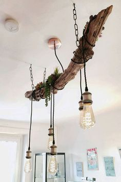 DIY – Which driftwood hanging lamp is the most beautiful? – driftwood effect Driftwood Chandelier, Diy Chandelier, Interior Lighting, Lighting Design, Wood Fuel, Best Desk Lamp, Rustic Home Interiors, Room Lamp, Bed Room