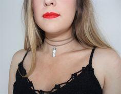 CHOOSE A CRYSTAL. Vegan Suede Faux Suede Choker. Double Choker Necklace. Healing Crystal Choker Necklace. 90s Grunge Choker. Boho Hippie. by Sunvsmoon on Etsy https://www.etsy.com/au/listing/473566140/choose-a-crystal-vegan-suede-faux-suede
