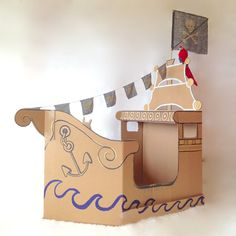 cardboard pirate ship - Google Search                                                                                                                                                      More