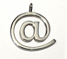 EMAIL - Internet Ring - At Sign Sterling Silver - Custom size contemporary geek art. $55,00, via Etsy.