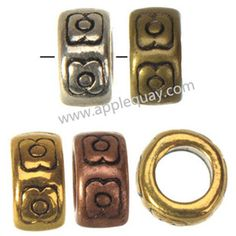 Zinc Alloy Large Hole Beads,Plated,Cadmium And Lead Free,Various Color For Choice,Approx 7*4mm,,Hole:Approx 4mm,Sold By Bags,No 002347