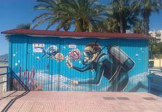 graffiti diver