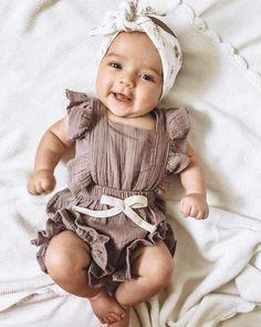 Vantrice Ruffled Romper by Elsewhereshop So Cute Baby, Baby Kind, Baby Love, Cute Kids, Cute Babies, Our Baby, Cute Baby Stuff, Cute Baby Smile, Cutest Babies Ever