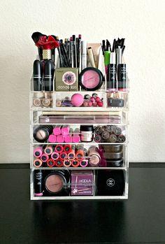 Acrylic Makeup Organizer Large 4 Drawer with by MakeupOrganizer