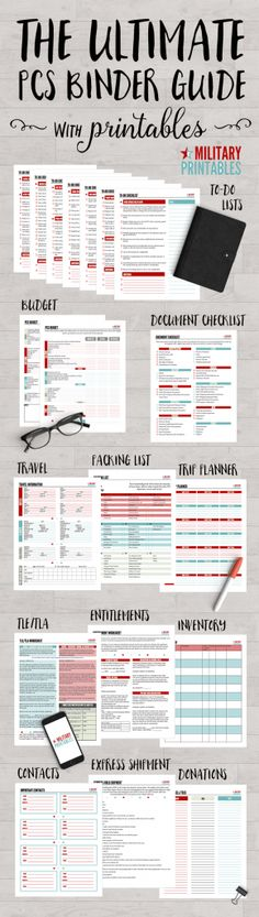 The Ultimate PCS Binder Guide with printables, perfect for military moves