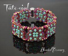 Constellation - beading pattern, rulla bead pattern, beadwoven bracelet pattern, seed beads / TUTORIAL ONLY