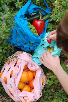Turn Recycled T-Shirts Into Produce Bags --> http://www.hgtvgardens.com/crafts/diy-recycled-t-shirt-bags?soc=pinterest
