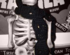 Crochet Day of the Dead Ornament by WickedCrochet71 on Etsy