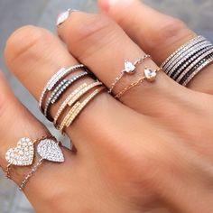 Anéis delicados