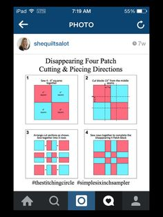 Four Patch Quilts Patterns 4 Patch Quilt Ideas Twist And Turn Four Patch Quilt Pattern Free Disappearing Nine Patch Tutorial - co-nnect.Mockingbird Bay Resort on Norfork Lake ArkansasEasy 4 Patch Quilt Patterns 9 Patch Quilt Patterns For Beginners Free Fo Colchas Quilt, Nine Patch Quilt, Scrappy Quilts, Patchwork Quilting, Easy Quilts, Quilt Blocks, Star Quilts, Quilting For Beginners, Quilting Tutorials