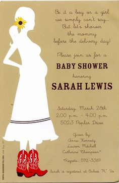country baby invitations   Country-Chic Baby Shower Invitation by Inviting Company