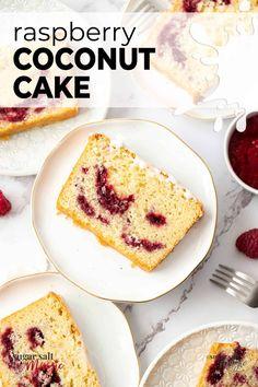 Raspberry And Coconut Cake, Baking Recipes, Cake Recipes, Recipes Using Fruit, Loaf Cake, Almond Cookies, Sweet Recipes, Yummy Recipes, Yummy Cakes