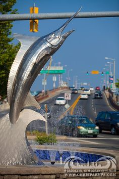 Chris Parypa Photography..  Bet you all know this famous sculpture and many of you have this sculpture in the memories as a : First you see the Marlin sculpture and you know, this is Ocean City, MD baby !
