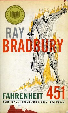 Fahrenheit 451 by Ray Bradbury. Perhaps the most ironic banned book situation, Fahrenheit 451 deals with the issue of censorship in a dystopian society that sends firefighters out to burn down houses discovered to have books inside. Those opposed to this book claim various reasons for banning it including profanity, portrayal of smoking and drinking, and anti-religious and anti-establishment sentiments.
