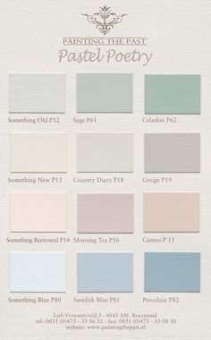 Elles Heart ~ Color Charts Painting the Past - Pastel Poetry