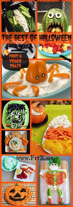 Healthy Halloween: Fruit & Veggie Trays