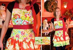 MADE APRONS FOR CHRISTMAS, BUT I DIDN'T MAKE ME ONE.  THIS ONE MIGHT BE FOR ME.  FREE PATTERN