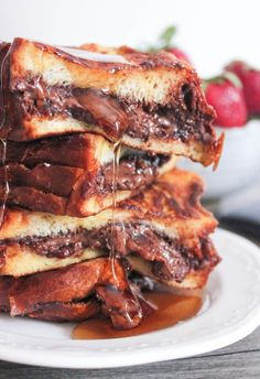 Nutella and Bacon Stuffed French Toast (even with bacon, this is life changing- I know, my life has been changed).