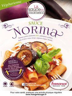sauce Norma avec ses tomates pelées bio, ses aubergines grillées, son huile d'olive vierge extra & ses petits oignons rouges ? #Juillet #Août