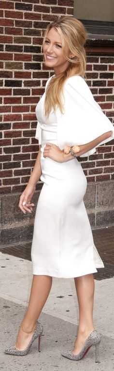 Blake Lively - Effortless Glamour (great for a city hall wedding too)