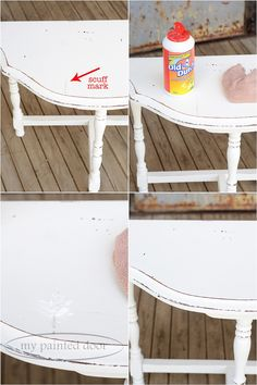 How to remove scuff marks on Fusion Mineral Paint, My Painted Door Furniture Care, How To Clean Furniture, Paint Furniture, Furniture Makeover, Furniture Ideas, Furniture Refinishing, Upcycled Furniture, Interior Paint Colors For Living Room, White Painted Furniture