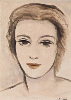 Stanley Cosgrove - Portrait of a Young Beauty, oil. Oil On Canvas, Artworks, Auction, Portrait, Beauty, Paintings, Beleza, Painted Canvas, Men Portrait