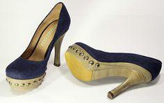 Decollétée Pura Lopez - Color Canvas Blu marino - Jeans - 75 euro