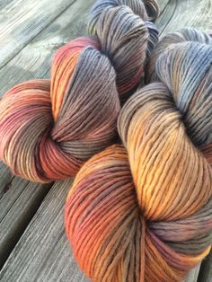 Hand Dyed Yarn Merino Wool Hand Painted Yarn by WendysWonders127