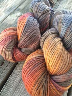 Hand Dyed Yarn Merino Wool Hand Painted Yarn by WendysWonders127