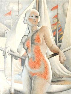 Nu au Soleil (Nude in the Sun) - Jean Metzinger, 1937. One of my favorite artists.