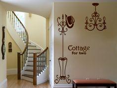 perchero y lámpara- vinilo decorativo Vintage - vinilos retro