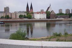 Frankfurt am Oder, Germany, seen from the Polish border