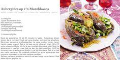 aubergines op z'n marokkaans. Recept Pascale Naessens