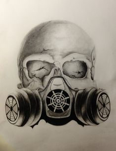 Images For > Skull Gas Mask Drawings                                                                                                                                                      Mehr