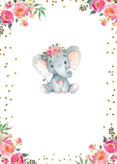 Elephant baby shower invitation | Zazzle.com