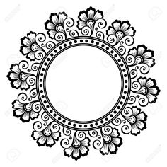 Illustration of Beautiful Deco Floral Circle Vector , Patterned frame vector art, clipart and stock vectors. Mandala Art, Mandalas Drawing, Stencil Patterns, Stencil Designs, Doodle Designs, Henna Designs, Dragon Tattoo Silhouette, Black Dragon Tattoo, Pop Art Wallpaper