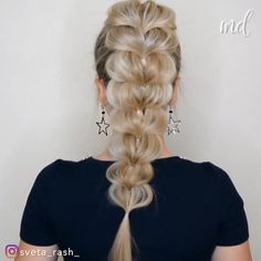 AMAZING HAIRSTYLE -  Gorgeous hairstyle to try when you wanna look extra cute!      By: @sveta_rash_  - #amazing #giftcarddiy #hairstyle #makeuptutorialforbeginners #makeuptutorialvideo