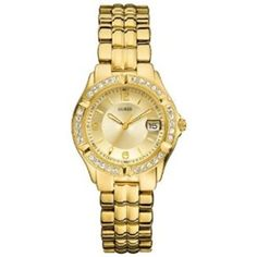 GUESS Dazzling Sporty Mid-size Watch - Gold