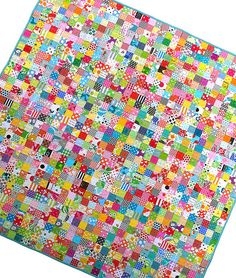 Red Pepper Quilts: TUTORIALS Postage Stamp quilt, Great for using up scraps