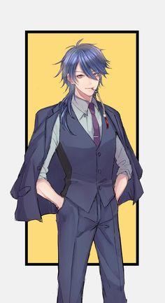 Hot Anime Boy, Cute Anime Guys, Cute Anime Couples, Cute Anime Character, Character Art, Character Design, Manga Art, Manga Anime, Anime Blue Hair