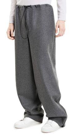 Baden flannel grey melange trousers #AcneStudios #menswear #PreFall2014 Cool Outfits, Fashion Outfits, Mens Fashion, Wide Trousers, Inspiration Mode, Fashion Sewing, Minimal Fashion, Acne Studios, Skort