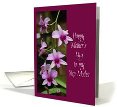 #Step_mother #mother's_day #pink #orchids #card sold to customer in  Oregon USA
