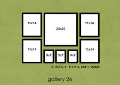 Photo display layouts.  With some Etsy art?  And a few canvases maybe?