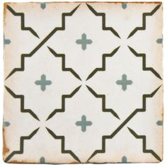 SomerTile 4.875x4.875-inch Chronicle Lattice Ceramic Floor and Wall Tile (Case of 32)