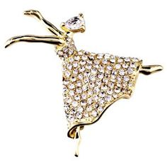 Pugster 22K Golden Plated Beautiful Dancer Girl Clear Swarovski Crystal Diamond Accent Brooches And Pins  http://electmejewellery.com/jewelry/pugster-22k-golden-plated-beautiful-dancer-girl-clear-swarovski-crystal-diamond-accent-brooches-and-pins-ca/