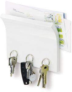Umbra Magnetische Sleutelhouder en Posthouder - Wit